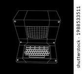 classic retro perconal computer....   Shutterstock .eps vector #1988533511