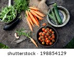 fresh organic vegetables. food... | Shutterstock . vector #198854129