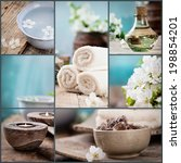 spa collage series. spa collage ... | Shutterstock . vector #198854201