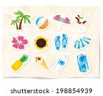 summmer sea icons | Shutterstock .eps vector #198854939