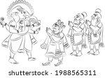 phad is indian folk art. the...   Shutterstock .eps vector #1988565311