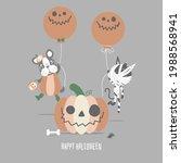 happy halloween holiday... | Shutterstock .eps vector #1988568941