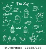 chalk tea collection | Shutterstock .eps vector #198857189