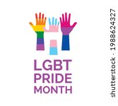 lgbt pride month poster with...   Shutterstock .eps vector #1988624327