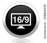16 9 display icon | Shutterstock . vector #198863435