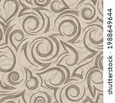 vector beige geometric seamless ... | Shutterstock .eps vector #1988649644