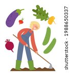 vector poster with agricultural ...   Shutterstock .eps vector #1988650337