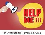 help me loudly loud speaker ...   Shutterstock .eps vector #1988657381