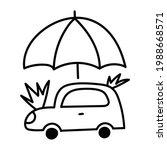 outline icons  car under... | Shutterstock .eps vector #1988668571