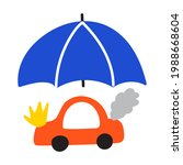 car insurance concept. hand... | Shutterstock .eps vector #1988668604