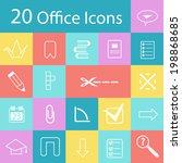 set of flat modern office icons ... | Shutterstock .eps vector #198868685