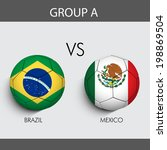 group a match brazil v s mexico ... | Shutterstock .eps vector #198869504