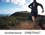 trail running man on mountain... | Shutterstock . vector #198870467