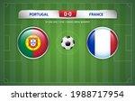 portugal vs france scoreboard... | Shutterstock .eps vector #1988717954