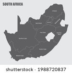 the south africa administrative ... | Shutterstock . vector #1988720837