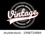 t shirt vintage authentic brand ...   Shutterstock .eps vector #1988724884