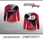 long sleeve sports racing suit. ...   Shutterstock .eps vector #1988725577