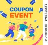 shopping event illustration.... | Shutterstock .eps vector #1988726651