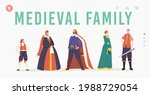 medieval family landing page... | Shutterstock .eps vector #1988729054