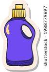 hand drawn detergent bottle...   Shutterstock .eps vector #1988779697
