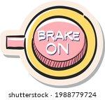 hand drawn race brake sign icon ...   Shutterstock .eps vector #1988779724