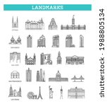 simple linear vector icon set... | Shutterstock .eps vector #1988805134