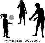 family silhouettes | Shutterstock .eps vector #198881879