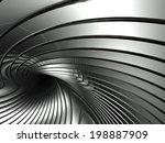 silver metal abstract... | Shutterstock . vector #198887909