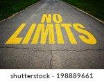 no limits message on asphalt... | Shutterstock . vector #198889661