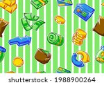 banking seamless pattern with... | Shutterstock .eps vector #1988900264