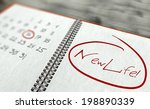 new life important day calendar ... | Shutterstock . vector #198890339