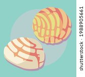 traditional mexican bread... | Shutterstock .eps vector #1988905661