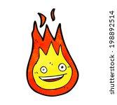 cartoon friendly fireball | Shutterstock . vector #198892514