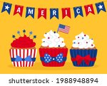 card with cupcakes independence ... | Shutterstock .eps vector #1988948894