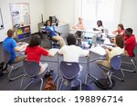 high school students taking... | Shutterstock . vector #198896714