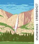 yosemite falls in yosemite...   Shutterstock .eps vector #1988980427