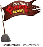 flag of pirate with talk like a ... | Shutterstock .eps vector #1988994071