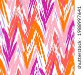 bright summer zig zag tie dye...   Shutterstock . vector #1988997641