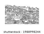 building view with landmark of... | Shutterstock .eps vector #1988998244