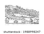 building view with landmark of... | Shutterstock .eps vector #1988998247