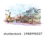 building view with landmark of... | Shutterstock .eps vector #1988998337