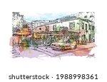 building view with landmark of... | Shutterstock .eps vector #1988998361