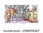 building view with landmark of... | Shutterstock .eps vector #1988998367