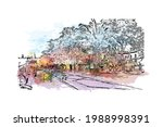 building view with landmark of... | Shutterstock .eps vector #1988998391