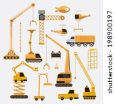 construction vector set.   Shutterstock .eps vector #198900197
