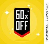 60  sales discount arrow. sixty ...   Shutterstock .eps vector #1989017114