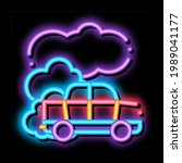 car co2 carbonic oxide air neon ... | Shutterstock .eps vector #1989041177