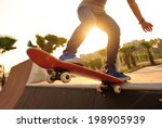 skateboarding at skatepark | Shutterstock . vector #198905939