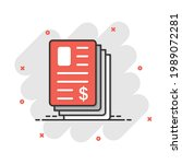 financial statement icon in...   Shutterstock .eps vector #1989072281