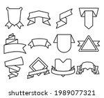 ribbon banner label and award...   Shutterstock .eps vector #1989077321